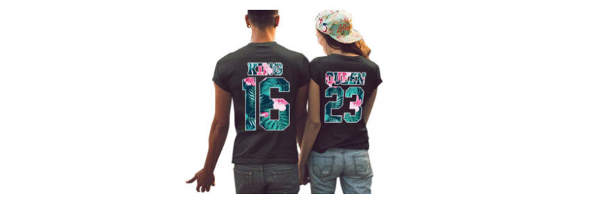 t-shirts personnalisés pour couple